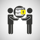 Silhouette men file business internet safety. Vector illustration eps 10 Stock Photography