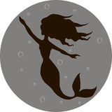 Silhouette mermaid Royalty Free Stock Photography