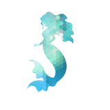 Silhouette of mermaid stock illustration