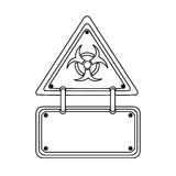 Silhouette metal biohazard warning notice sign icon Stock Images
