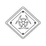 Silhouette metal biohazard warning sign icon Royalty Free Stock Photo
