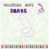 Silhouette mignonne de serpent de bande dessinée pour livre de coloriage Images libres de droits