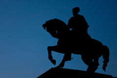 The Silhouette of Mihai Viteazu Royalty Free Stock Photos