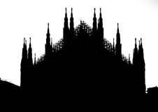 Silhouette of Milan Dome Royalty Free Stock Photo
