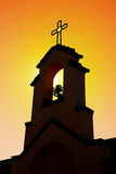 Silhouette of Mission Style Church Royalty Free Stock Photo