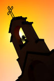 Silhouette of Mission Style Church Royalty Free Stock Photos