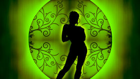 Silhouette modèle Photo libre de droits