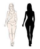Silhouette model girl Stock Image
