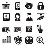 Silhouette Money, finance, banking, Investment Internet banking Royalty Free Stock Image