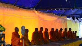 Silhouette of Monk pray for funeral at funeral ceremony stock video footage