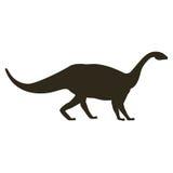 Silhouette monochrome avec le mamenchisaurus de dinosaure illustration stock