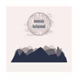 Silhouette monochrome des montagnes posées Image stock