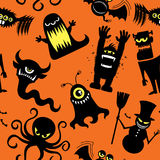Silhouette Monsters Pattern Royalty Free Stock Photos