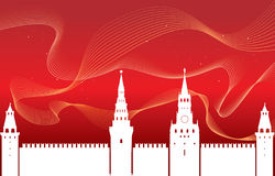 The silhouette of the Moscow Kremlin . Royalty Free Stock Photo
