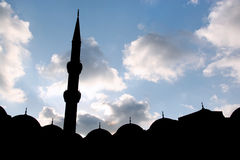 Silhouette of the mosque Royalty Free Stock Photos