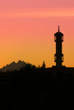 Silhouette of Mosque Stock Image