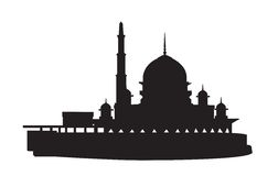 Silhouette mosque Stock Photos