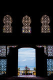 Silhouette of the mosque architecture design Royalty Free Stock Images