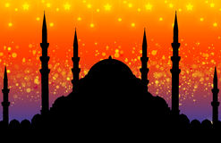 Silhouette of mosque vector illustration