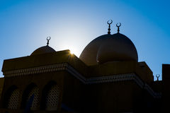 Silhouette of Mosque Stock Photos