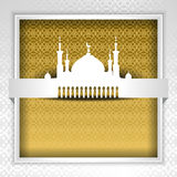 Silhouette of mosque with minarets Stock Image