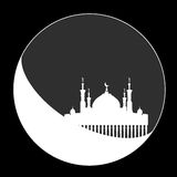 Silhouette of mosque with minarets Royalty Free Stock Images