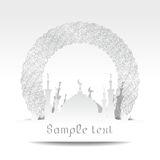 Silhouette of mosque with minarets Stock Photos