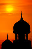 Silhouette of a mosque. Stock Image