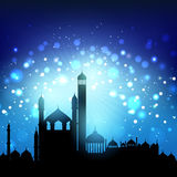 Silhouette of mosques Stock Photos