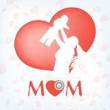 Silhouette of a mother and her child. EPS 10. Vector file included Stock Photography
