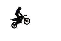 Silhouette of  motocross Royalty Free Stock Image