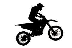Silhouette of  motocross Stock Image