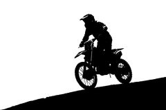 Silhouette of  motocross Royalty Free Stock Photo