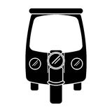 Silhouette motor rickshaw transport tricycle Royalty Free Stock Images