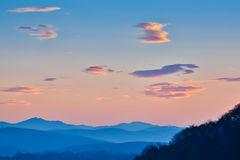 Silhouette Mountain Stock Photography