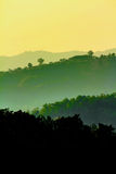 Silhouette of mountain Royalty Free Stock Photography