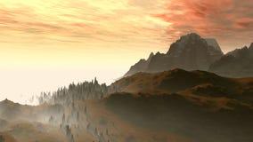 Silhouette of mountains Royalty Free Stock Photos