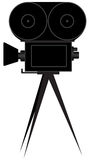 Silhouette of movie camera Royalty Free Stock Photo