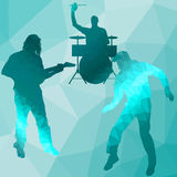 Silhouette music band Royalty Free Stock Photo