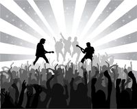 Silhouette musical concert. With the solemn background Royalty Free Stock Photos