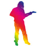 Silhouette musician Royalty Free Stock Photography