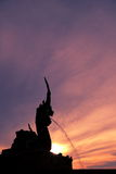 Silhouette Naga tourist attraction Stock Photo