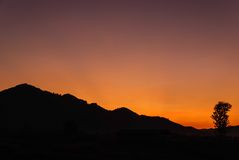 Silhouette of nature Royalty Free Stock Photos