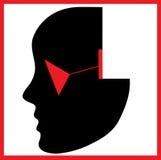 Silhouette noire élégante de femme de hesd illustration libre de droits