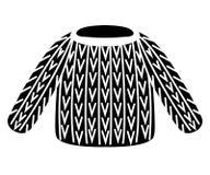 Silhouette noire Chandail tricoté fait main Illustration plate de vecteur d'isolement sur le backgrouhd blanc Icône de vêtements  photo libre de droits