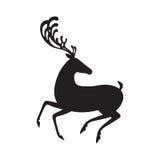 Silhouette noire d'élans d'illustration de vecteur de cerfs communs illustration libre de droits