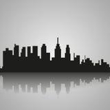 Silhouette noire de Philadelphie avec la réflexion Illustration de vecteur illustration libre de droits