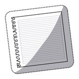 Silhouette notebook school icon Stock Photography