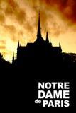 Silhouette of Notre Dame de Paris Stock Photo