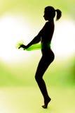 Silhouette nue de femme Photographie stock